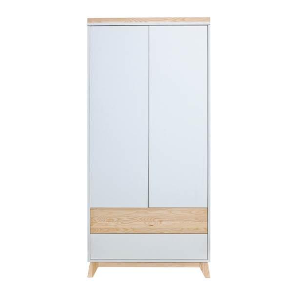 Nordik - Szafa 2 drzwiowa - Jesion + biały