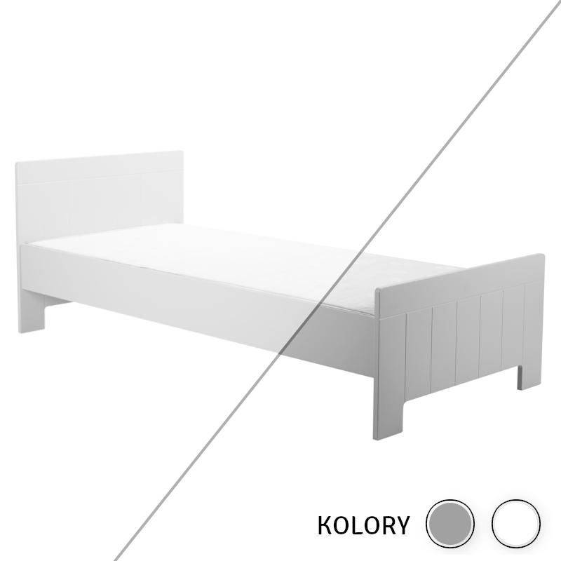 Calmo - Łóżko 200x90 - białe/szare