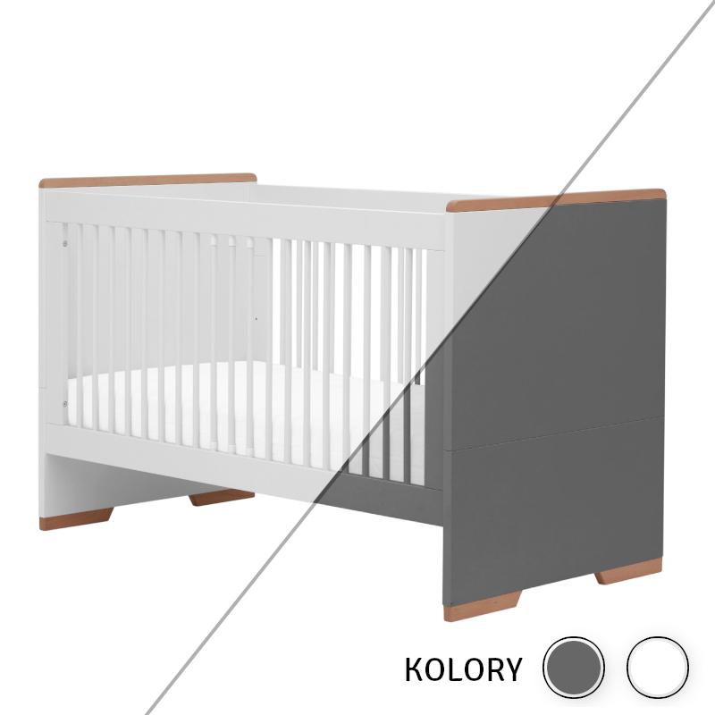 Snap - Łóżeczko 140x70 - białe/szare