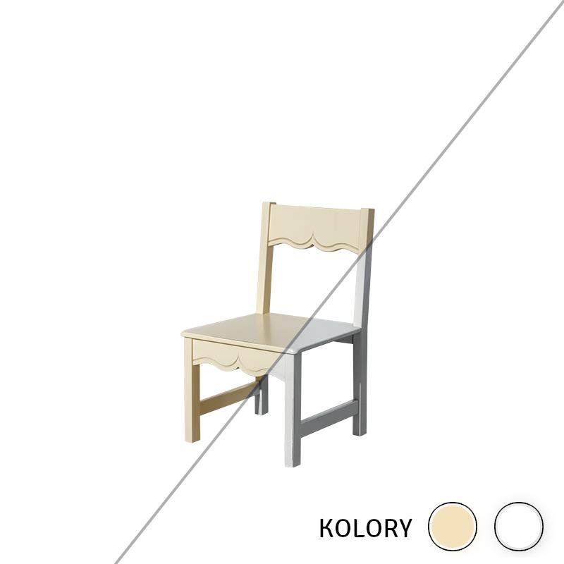 Prowansja - Krzesełko dziecięce - krem/ biel