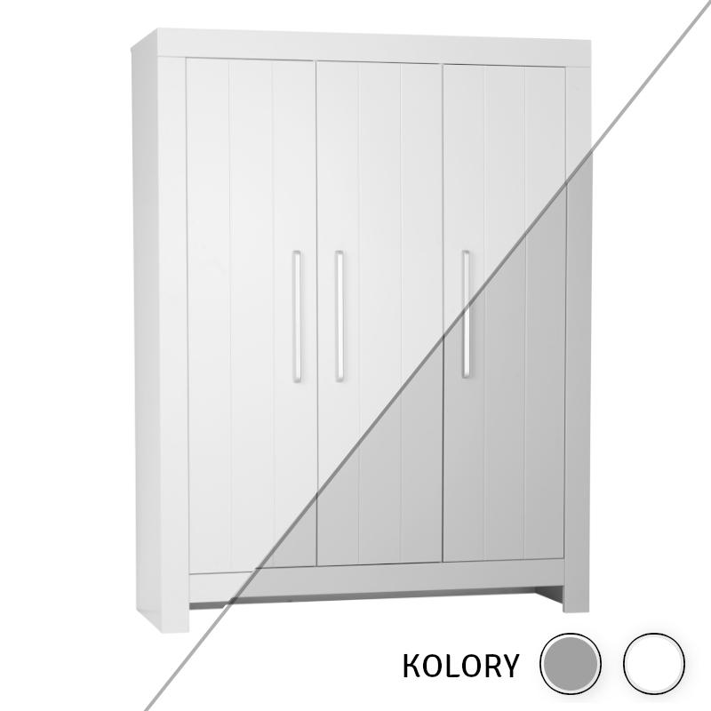 Calmo - Szafa 3-drzwiowa - biała/szara