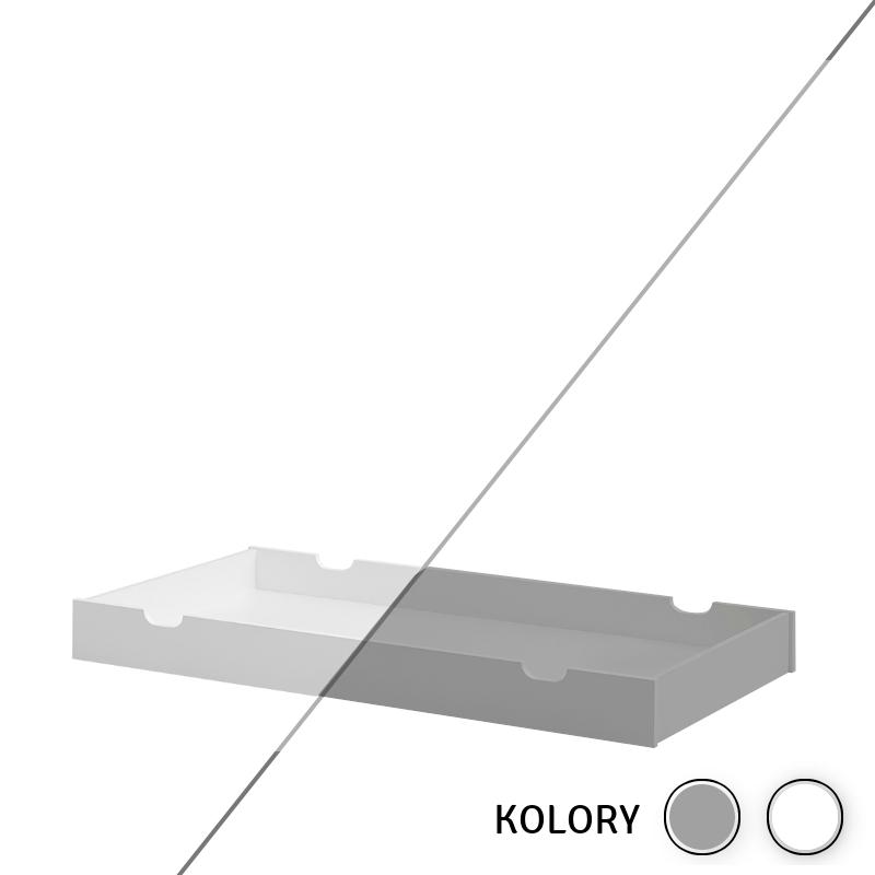 Calmo - Szuflada 140x70 - biała/szara