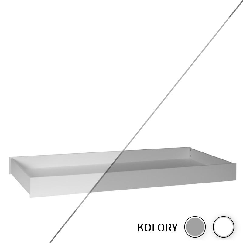 Calmo - Szuflada 200x90 - biała/szara