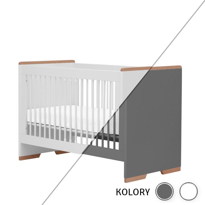 Snap - Łóżeczko 120x60 - białe/szare