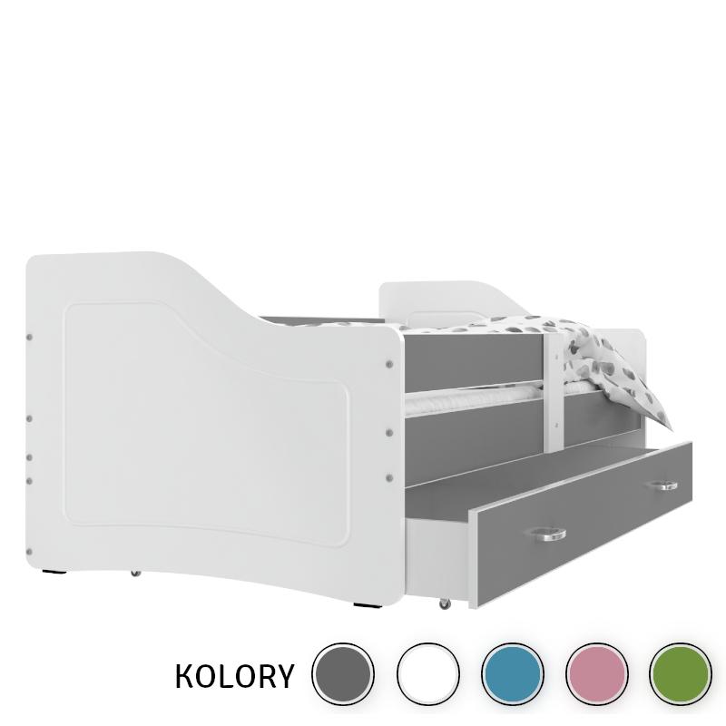 SWEETY - 1os Łóżko parterowe 160x80 - korpus biały