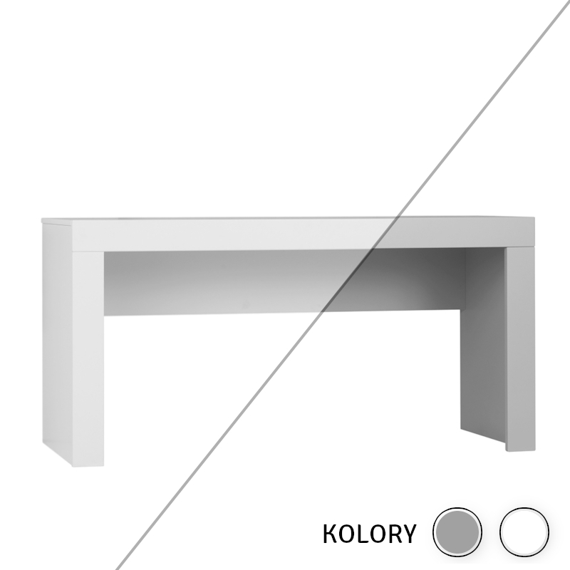 Calmo - Biurko - białe/szare