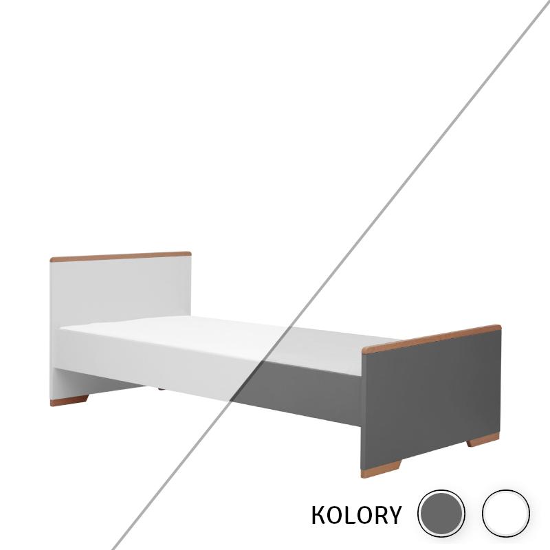 Snap - Łóżko 200x90 - białe/szare