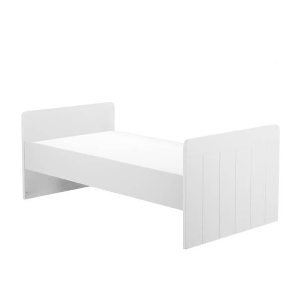 Calmo Pinio - Łóżeczko tapczanik 140x70 cm - kolor biały
