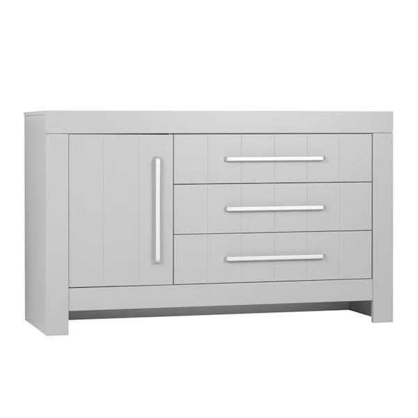Calmo Pinio - Komoda 3 szuflady + drzwiczki - kolor szary