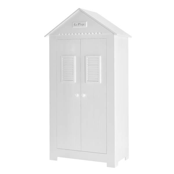 Marsylia MDF Pinio - Szafa 2 drzwiowa wysoka domek - kolor biały
