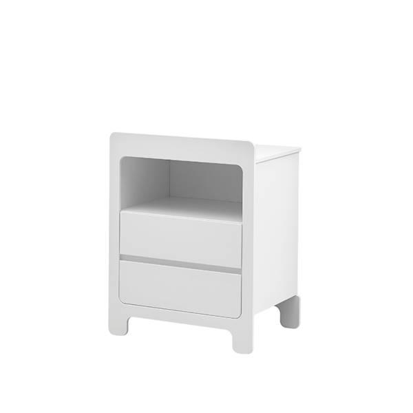Moon Pinio - Komoda mała 2 szuflady - kolor biały