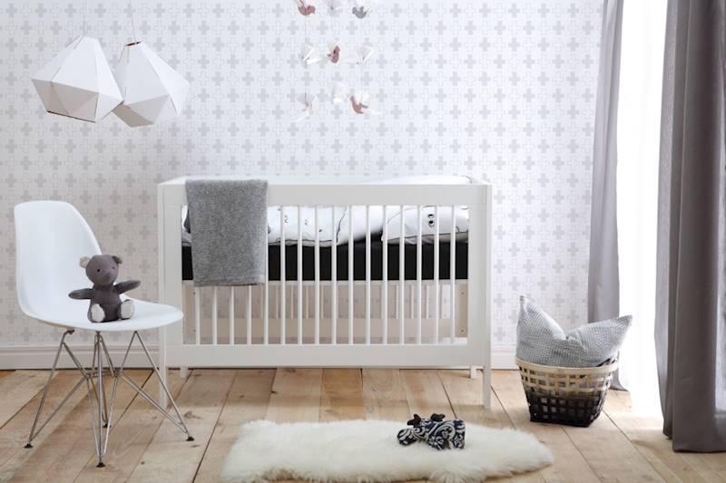 Basic Pinio - Łóżeczko 120x60 cm - kolor biały
