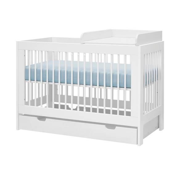Basic Pinio - Przewijak do łóżeczka 120x60 cm - kolor biały