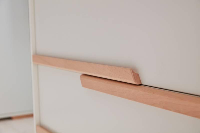 Snap Pinio - Komoda 3 szuflady - kolor biały