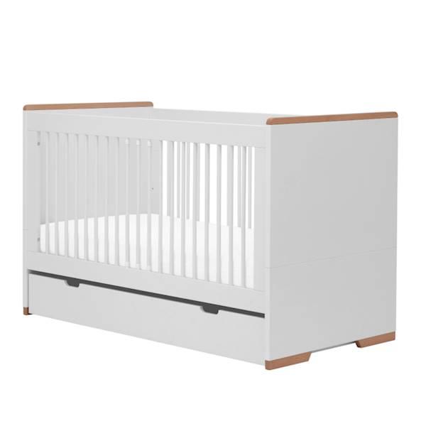 Snap Pinio - Szuflada do łóżeczka 140x70 cm - kolor biały