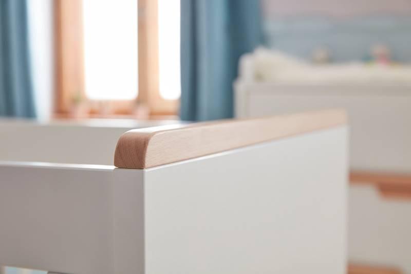 Snap Pinio - Łóżeczko tapczanik 140x70 cm - kolor biały
