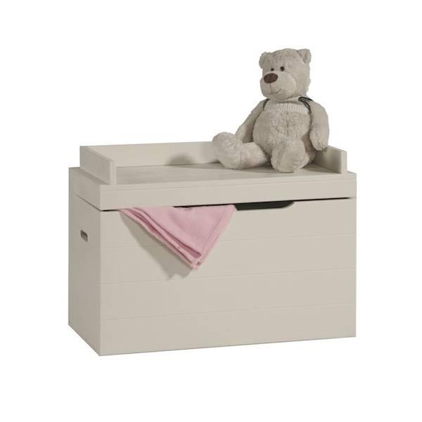 Asiento Pinio - skrzynia kufer na zabawki - kolor biały