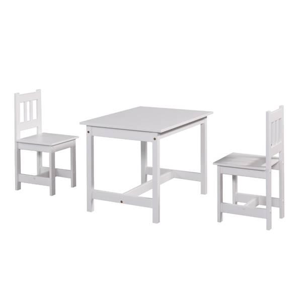 Junior Pinio - Zestaw (stoliczek + 2x krzesełka) - kolor biały