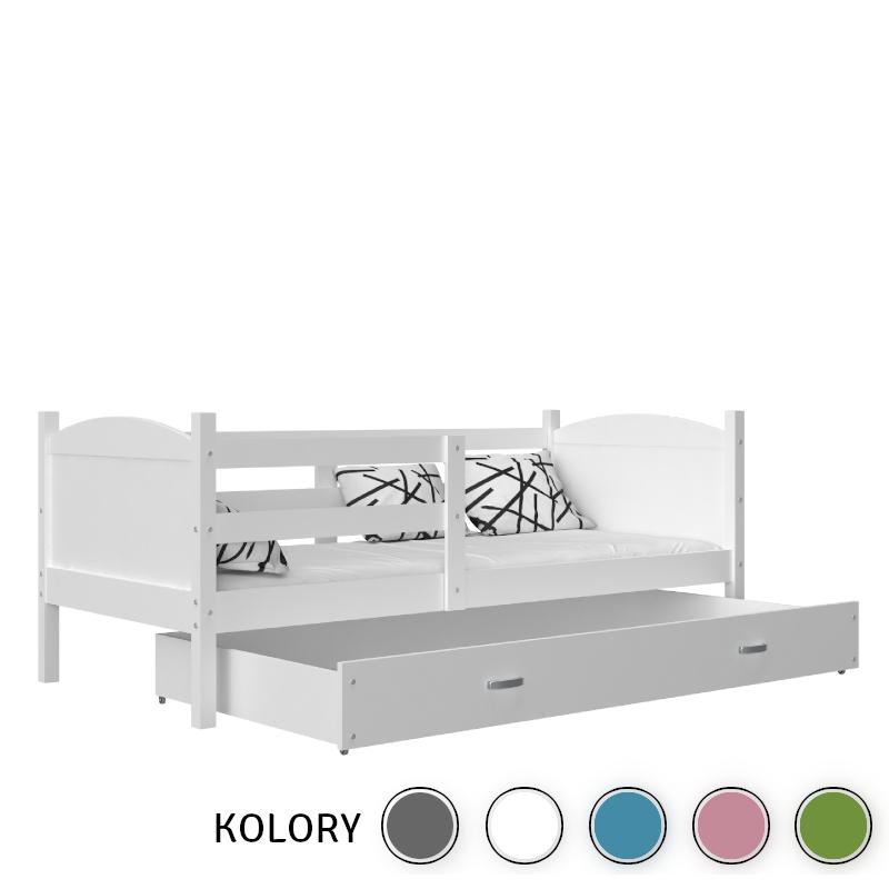Mateusz - 1-os. Łóżko parterowe 190x80 - ko. biały