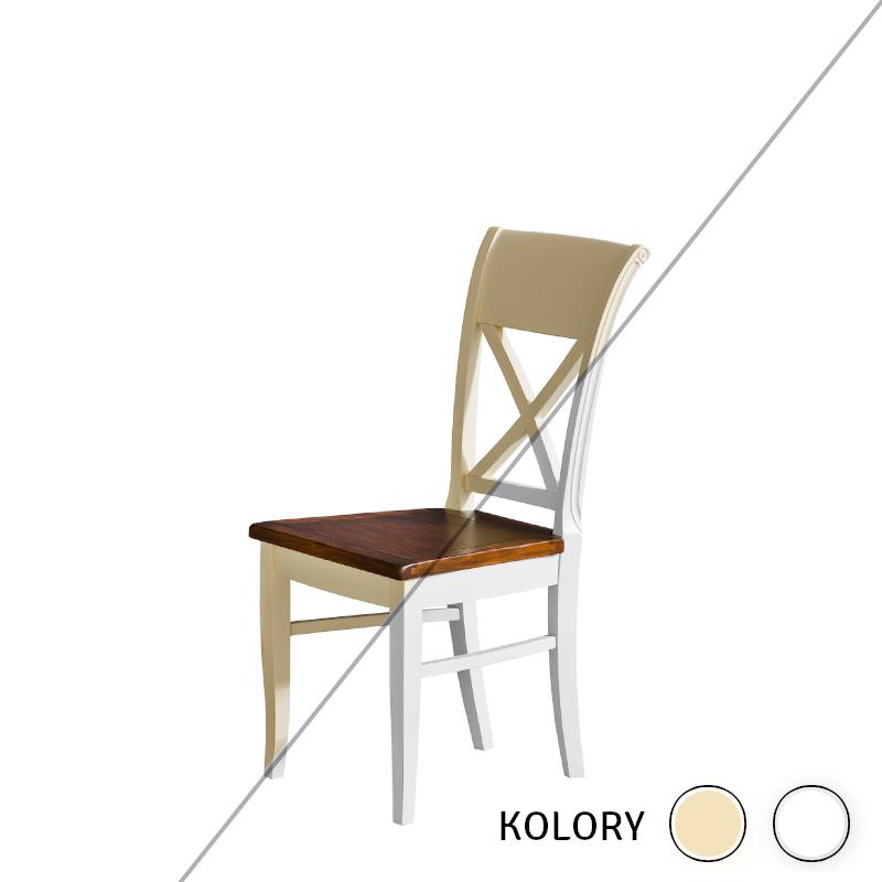 Prowansja - Krzesło - krem/biel