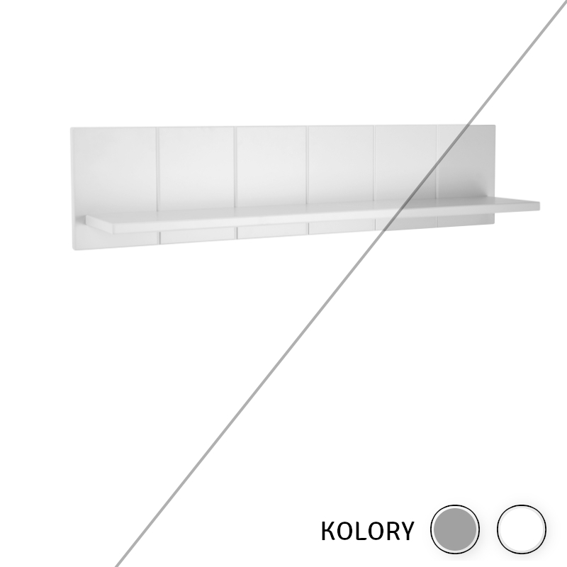 Calmo - Półka - biała/szara