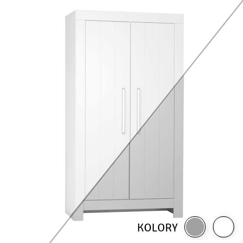 Calmo - Szafa 2-drzwiowa - biała/szara