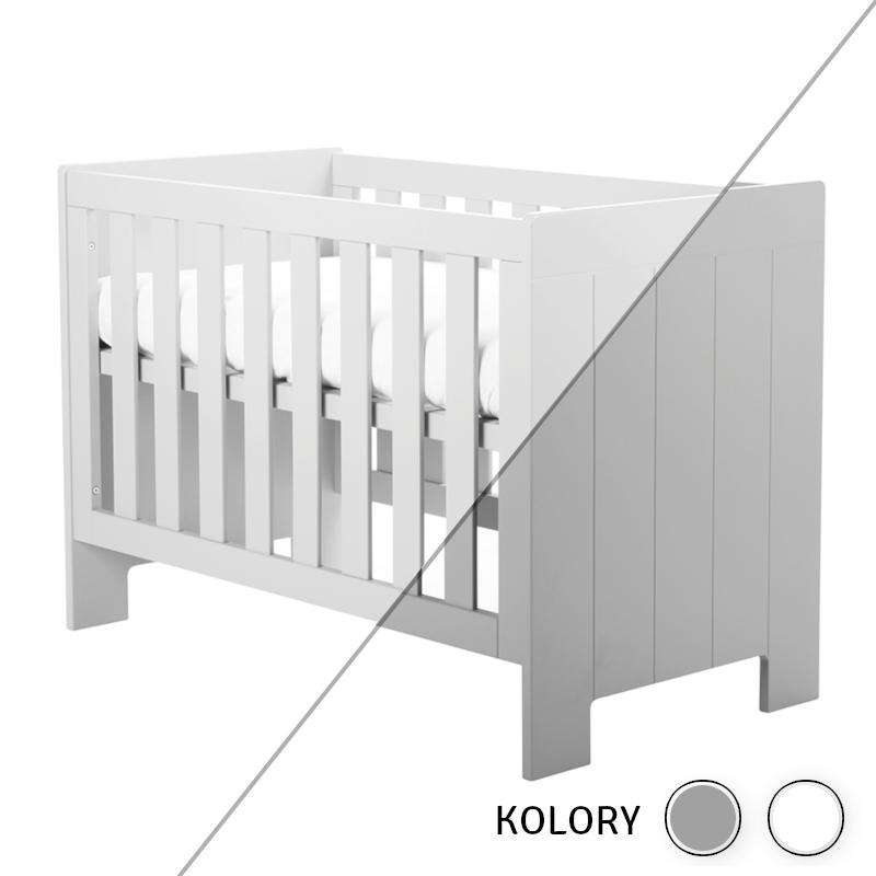 Calmo - Łóżeczko 120x60 - białe/szare