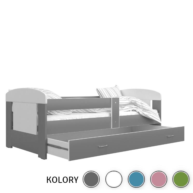 FILIP - 1-os Łóżko parterowe 160x80 - RÓŻNE KOLORY