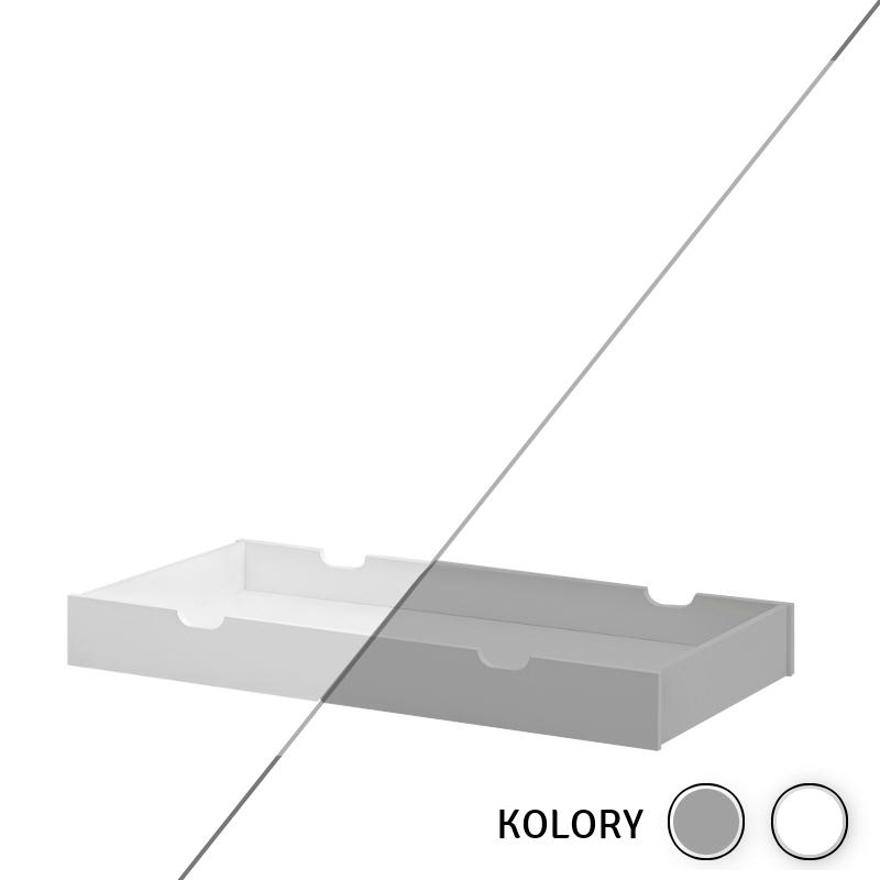 Calmo - Szuflada 120x60 - biała/szara