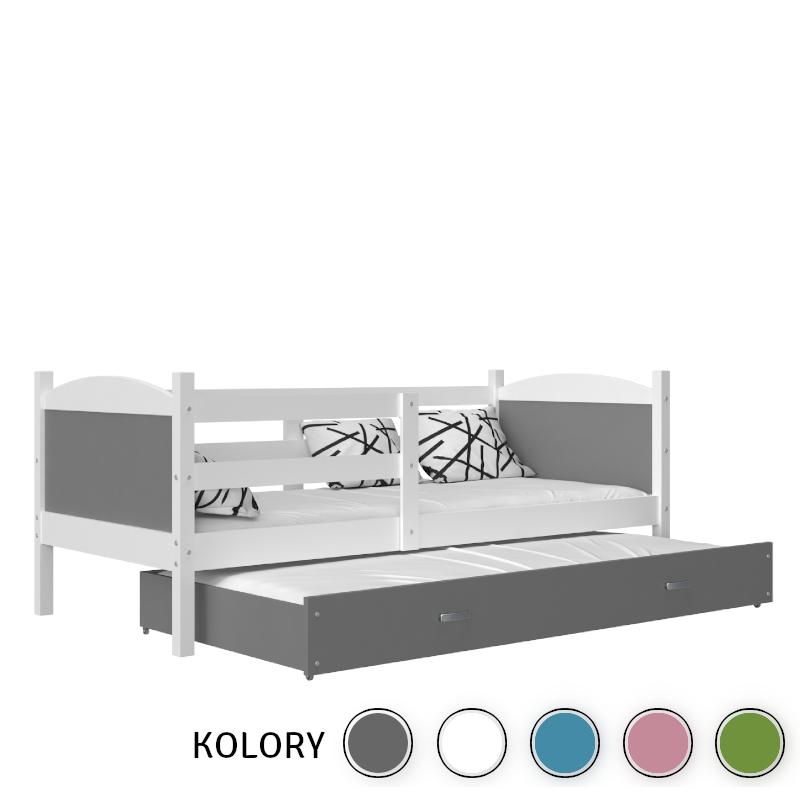 Mateusz - 2-os. Łóżko parterowe 190x80 - ko. biały