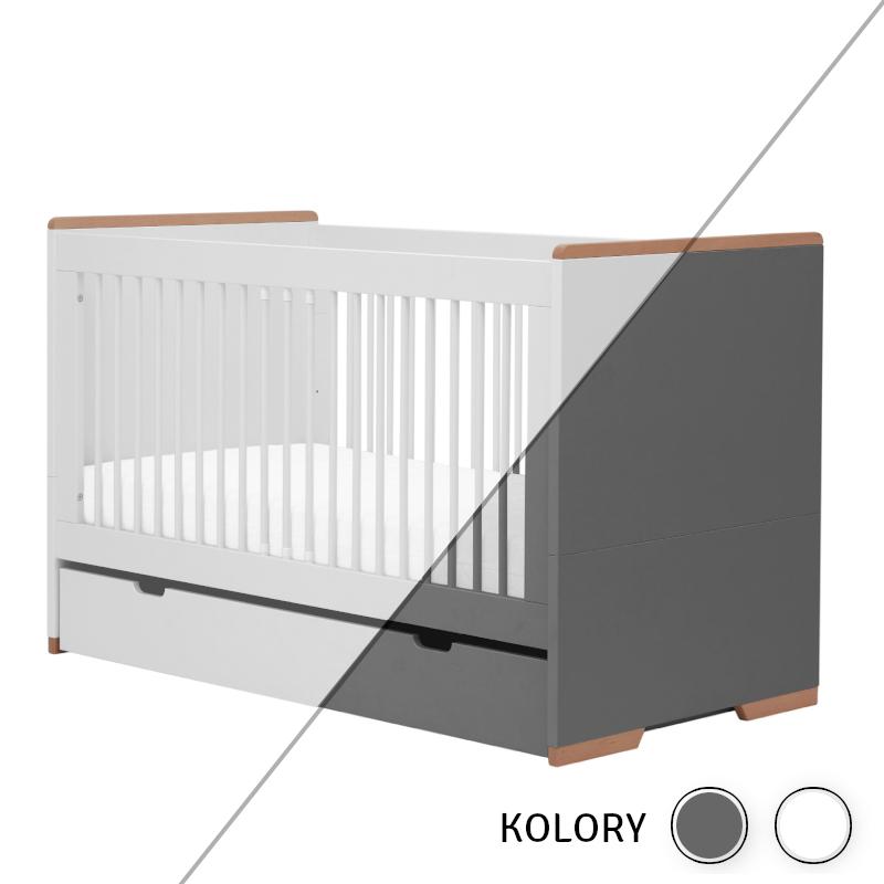 Snap - szuflada 140x70 - biała/szara