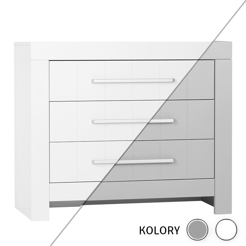 Calmo - Komoda 3 szuflady - biała/szara