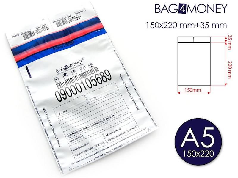 A5/K70 Bezpieczna Koperta (150x220 mm) - BIAŁA