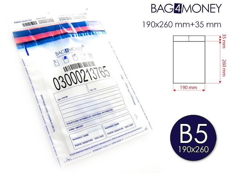 B5 Bezpieczna Koperta (190x260 mm) - PRZEZROCZYSTA