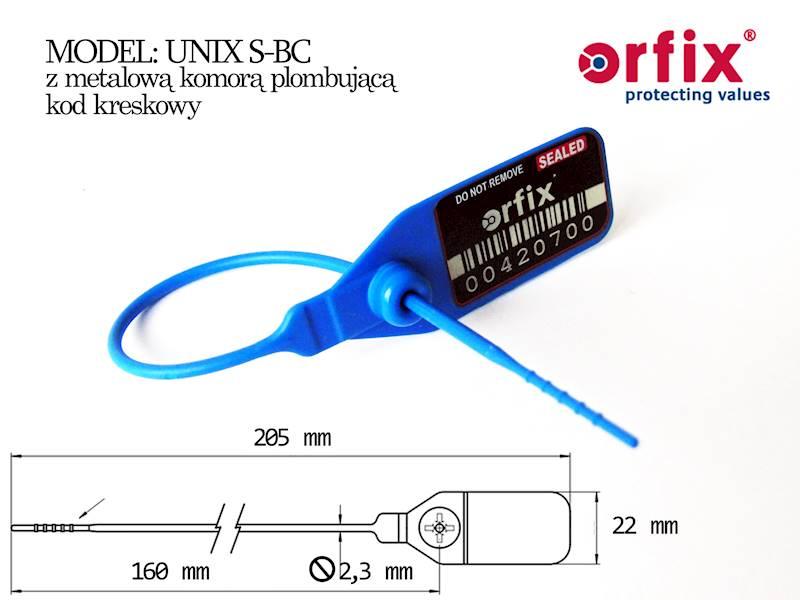 UNIX-S 190 mm z kodem kreskowym (128) ŻÓŁTA
