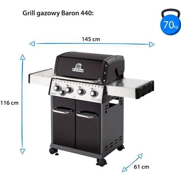 GRILL GAZOWY BROIL KING BARON 490