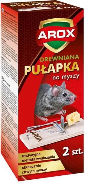 AROX MYSZY PUŁAPKA DREWNIANA 2szt