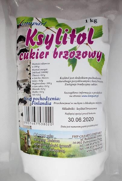 Ksylitol - cukier brzozowy 1 kg Lompart (Finlandia