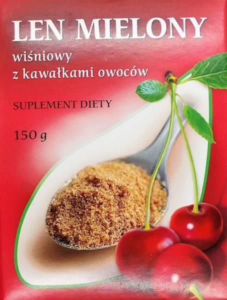 Len mielony o smaku wiśniowym 150g M. Kubara