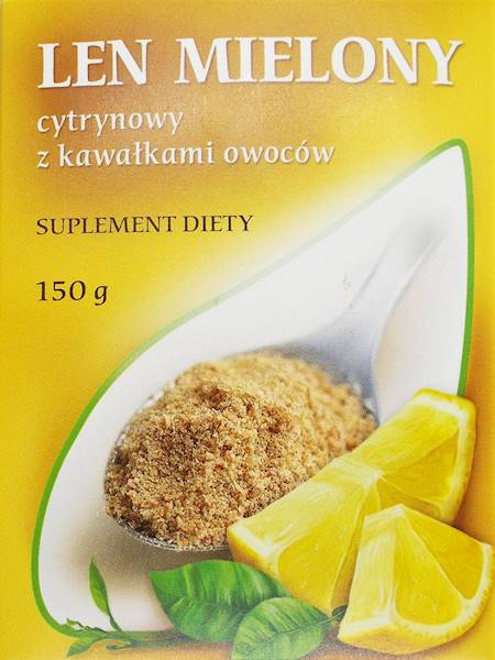 Len mielony o smaku cytrynowym 150g M. Kubara