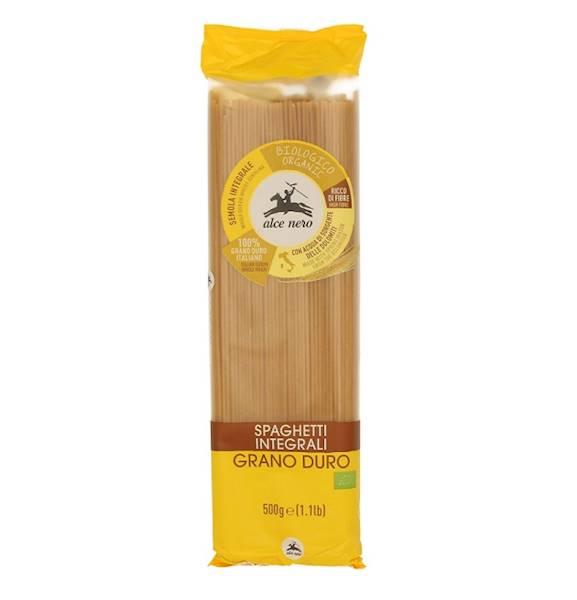 BIO Spaghetti semolinowe razowe 500g Alce Nero