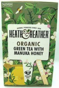 BIO Herbata zielona aromat miodu Manuka20x2g