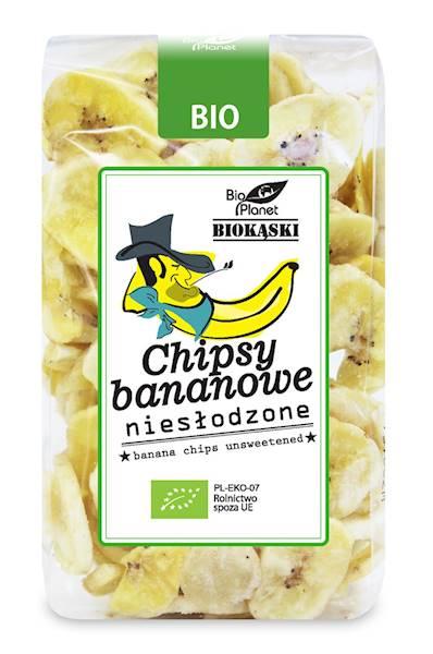 BIO Chipsy bananowe niesłodzone 150g Bio Planet