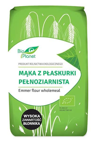 BIO Mąka z płaskurki pełnoziarnist 500g Bio Planet