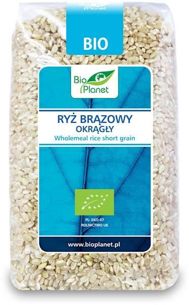 BIO Ryż brązowy okrągły 500g Bio Planet
