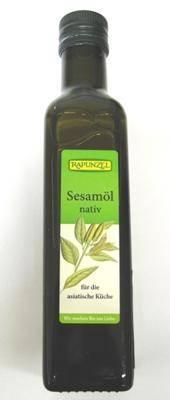 Bio olej sezamowy tłoczony na zimno 250ml Rapunzel