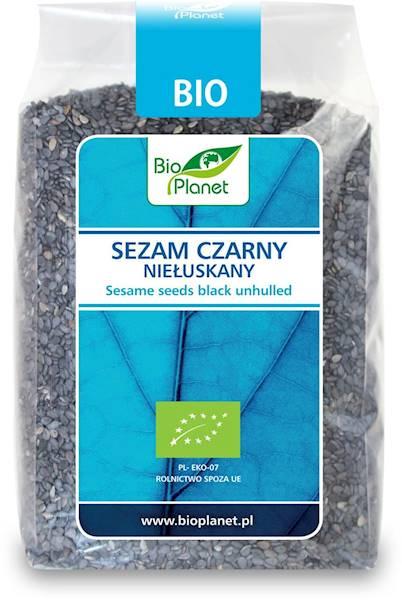 BIO Sezam czarny niełuskany 250g Bio Planet