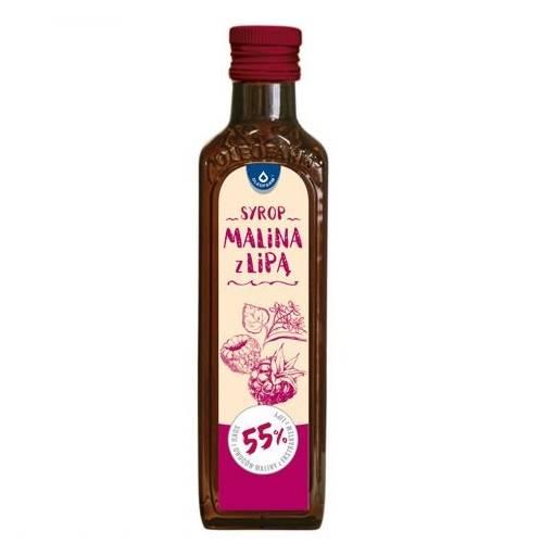 Syrop malina z lipą 55% soku 250 ml Oleofarm