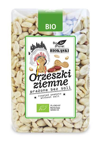 BIO Orzeszki ziemne prażone bez soli 350g