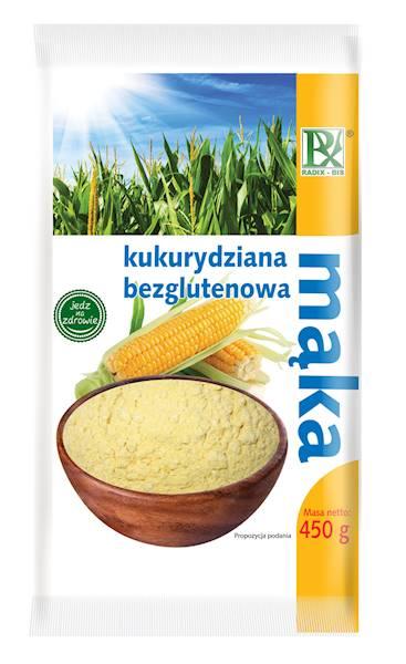 Bezglutenowa mąka kukurydziana 450g Radix